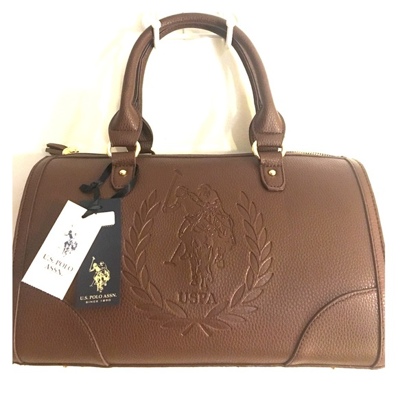 bdd237d52e34 U.S. POLO ASSN. Brown purse bag
